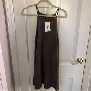 Brand new Grey/brown suede dress